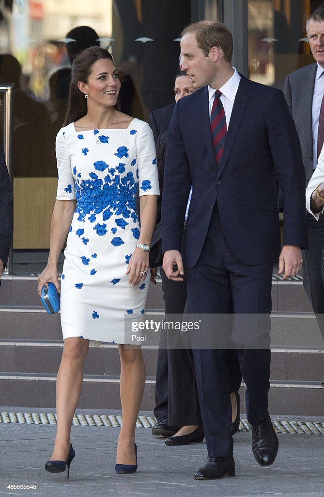Catherine, Duchess of Cambridge and Prince William, Duke of Cambridge meet well wishers during a walkabout on April 19, 2014 in Brisbane, Australia. The Duke and Duchess of Cambridge are on a three-week tour of Australia and New Zealand.