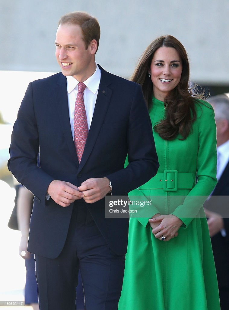 <a gi-track='captionPersonalityLinkClicked' href=/galleries/search?phrase=Catherine+-+Duchess+of+Cambridge&family=editorial&specificpeople=542588 ng-click='$event.stopPropagation()'>Catherine</a>, Duchess of Cambridge and <a gi-track='captionPersonalityLinkClicked' href=/galleries/search?phrase=Prince+William&family=editorial&specificpeople=178205 ng-click='$event.stopPropagation()'>Prince William</a>, Duke of Cambridge arrive at the Portrait Gallery on April 24, 2014 in Canberra, Australia. The Duke and Duchess of Cambridge are on a three-week tour of Australia and New Zealand, the first official trip overseas with their son, Prince George of Cambridge.