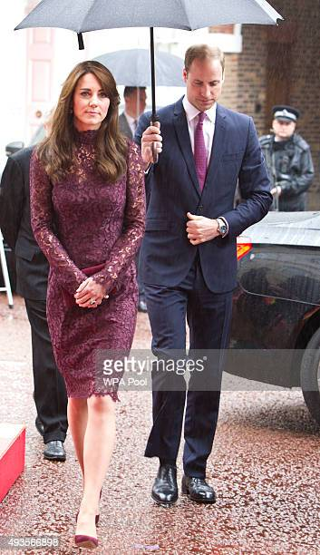 Catherine Duchess of Cambridge and Prince William Duke of Cambridge attend a 'Creative Collaborations UK China' event at Lancaster House on October...