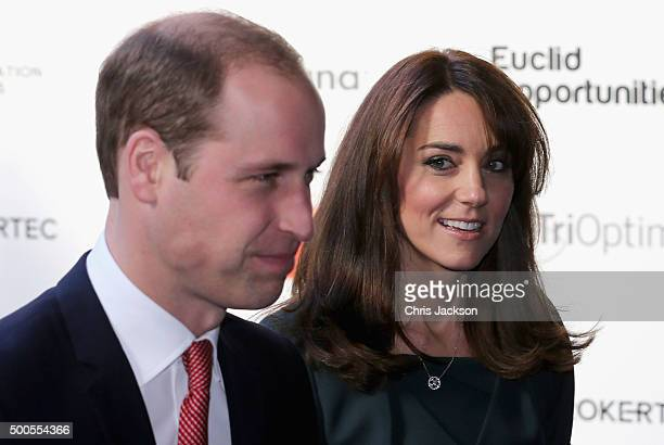 Catherine Duchess of Cambridge and Prince William Duke of Cambridge attend the ICAP charity day at ICAP on December 9 2015 in London England