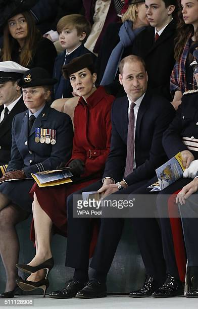 Catherine Duchess of Cambridge and Prince William Duke of Cambridge attend a ceremony marking the end of RAF Search and Rescue Force operations...