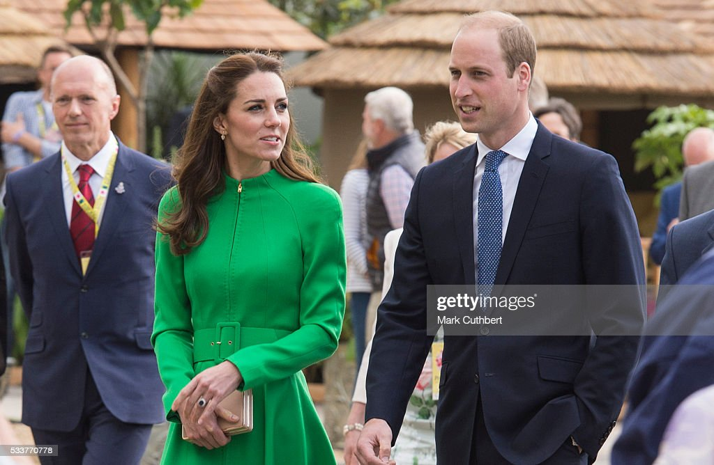 Catherine, Duchess of Cambridge and Prince William, Duke of Cambridge attend Chelsea Flower Show press day at Royal Hospital Chelsea on May 23, 2016 in London, England. The prestigious gardening show features hundreds of stands and exhibition gardens.