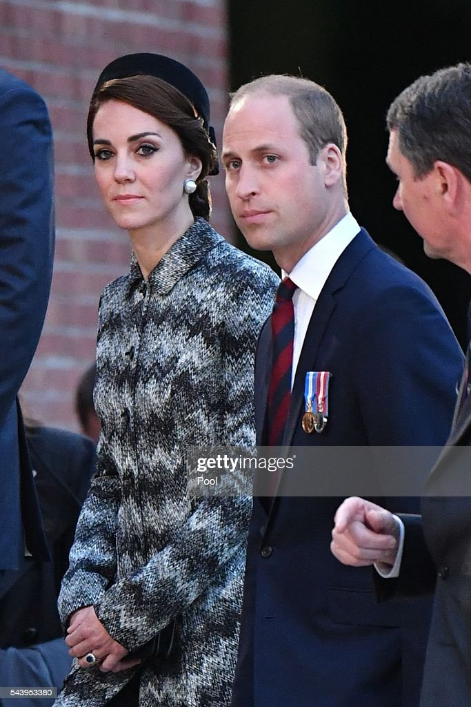 Catherine, Duchess of Cambridge and <a gi-track='captionPersonalityLinkClicked' href=/galleries/search?phrase=Prince+William&family=editorial&specificpeople=178205 ng-click='$event.stopPropagation()'>Prince William</a>, Duke of Cambridge attend the Somme Centenary commemorations at the Thiepval Memorial on June 30, 2016 in Albert, France.