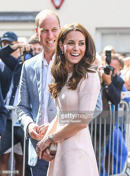Catherine Duchess of Cambridge and Prince William Duke of Cambridge visit Truro Cathedral during a visit to Cornwall on September 1 2016 in Truro...