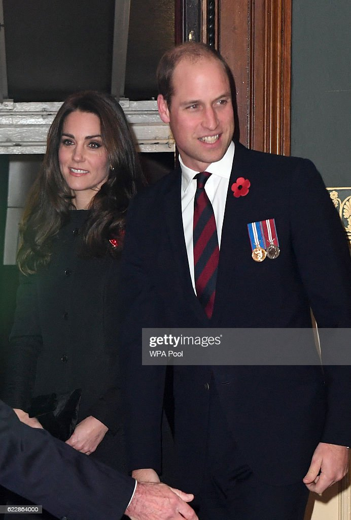 Catherine, Duchess of Cambridge and Prince William, Duke of Cambridge attend the annual Royal Festival of Remembrance at the Royal Albert Hall on November 12, 2016 in London, England.