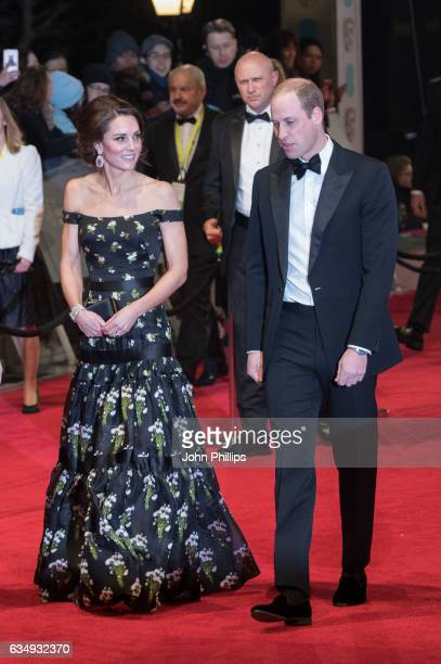Catherine Duchess of Cambridge and Prince William Duke of Cambridge attends the 70th EE British Academy Film Awards at Royal Albert Hall on February...