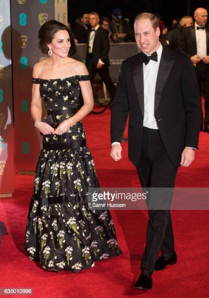 Catherine Duchess of Cambridge and Prince William Duke of Cambridge attend the 70th EE British Academy Film Awards at Royal Albert Hall on February...