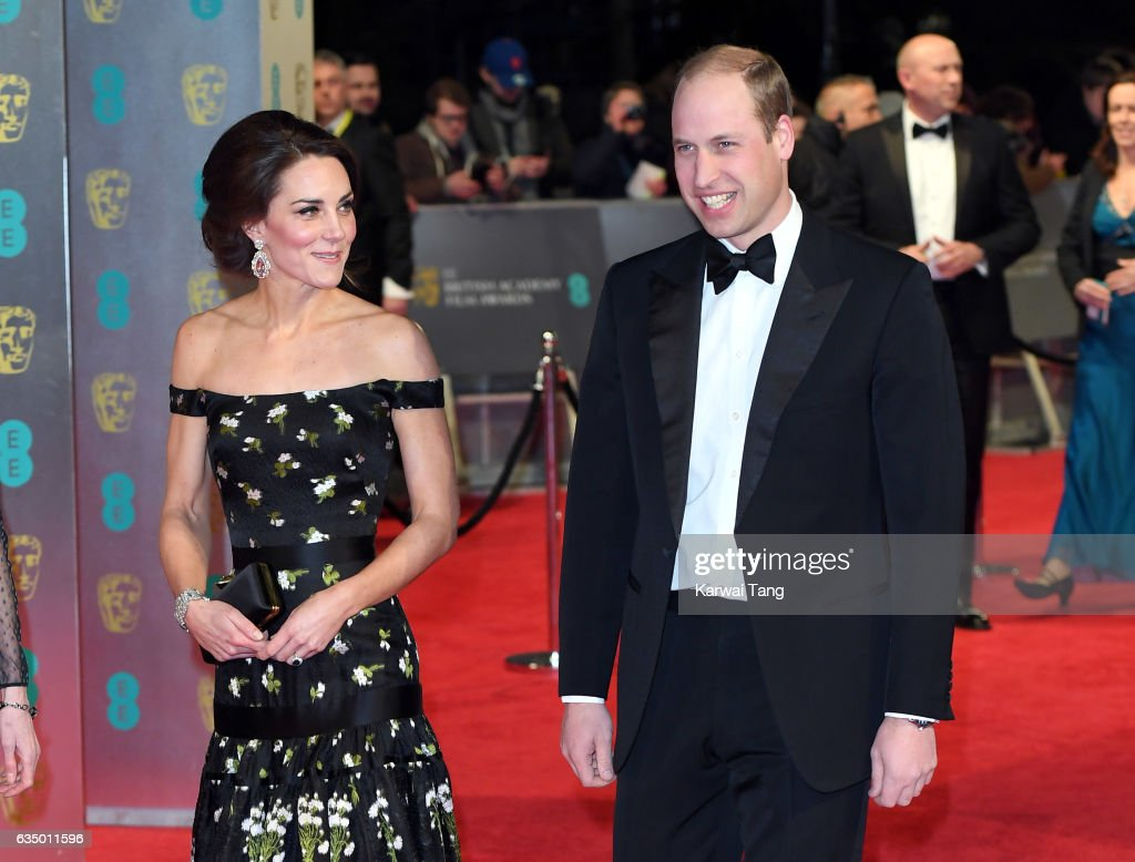 Catherine, Duchess of Cambridge and Prince William, Duke of Cambridge attend the 70th EE British Academy Film Awards (BAFTA) at the Royal Albert Hall on February 12, 2017 in London, England.