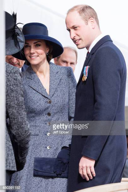 Catherine Duchess of Cambridge and Prince William Duke of Cambridge during the dedication and unveiling of The Iraq and Afghanistan memorial on March...
