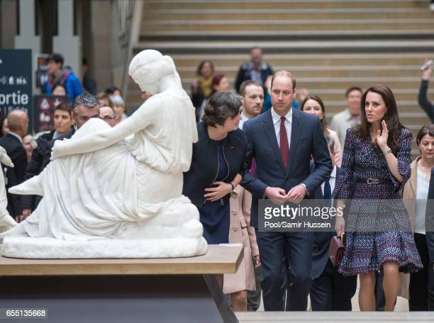 Catherine Duchess of Cambridge and Prince William Duke of Cambridge visit Musee d'Orsay on March 18 2017 in Paris France The Duke and Duchess are on...