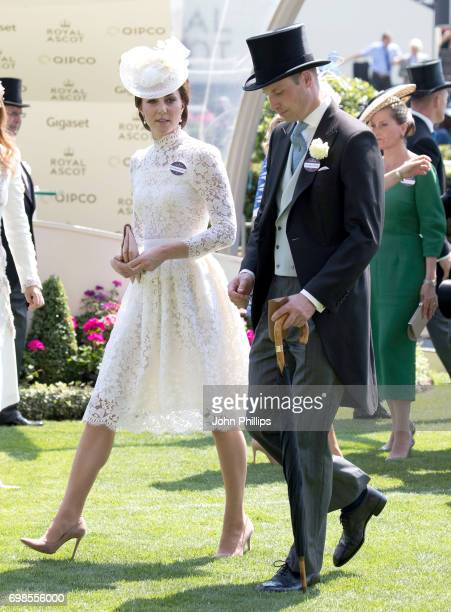 Catherine Duchess of Cambridge and Prince William Duke of Cambridge attend day 1 of Royal Ascot 2017 at Ascot Racecourse on June 20 2017 in Ascot...