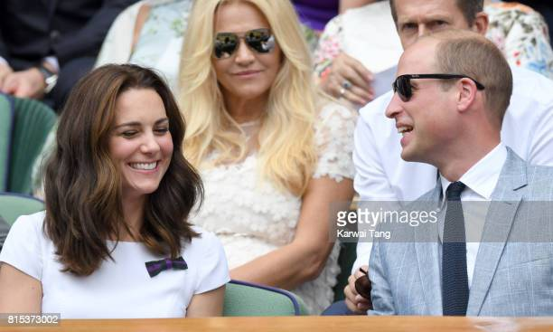 Catherine Duchess of Cambridge and Prince William Duke of Cambridge attend day 13 of Wimbledon 2017 on July 16 2017 in London England