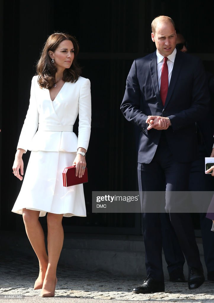 Catherine, Duchess of Cambridge and Prince William, Duke of Cambridge visit the Warsaw Rising Museum during an official visit to Poland and Germany on July 17, 2017 in Warsaw, Poland.