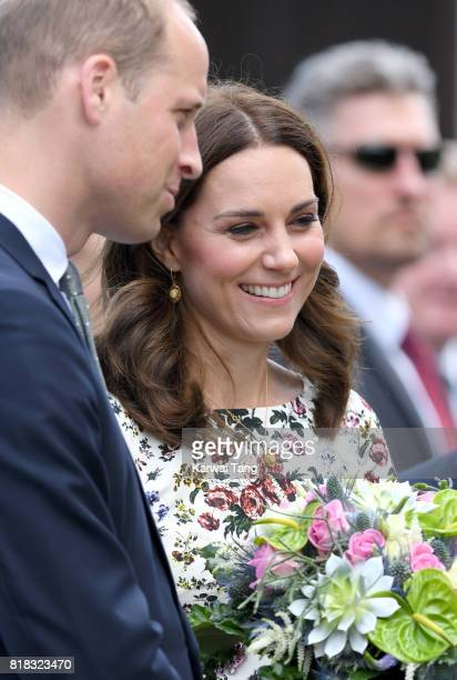 Catherine Duchess of Cambridge and Prince William Duke of Cambridge visit the former Nazi Germany Concentration Camp during day 2 of their Royal Tour...
