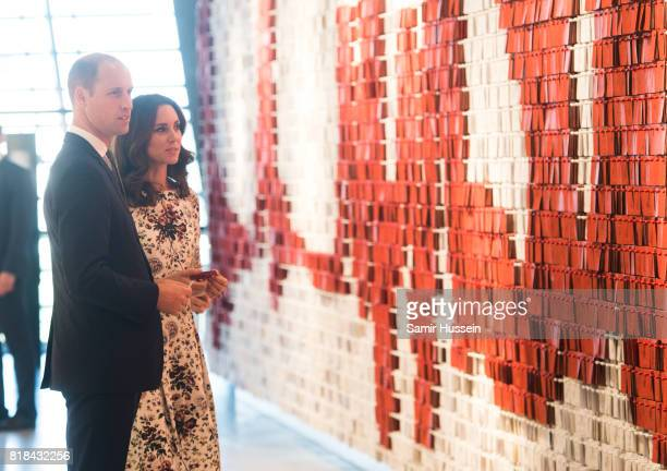 Catherine Duchess of Cambridge and Prince William Duke of Cambridge visit the European Solidarity Centre during an official visit to Poland and...