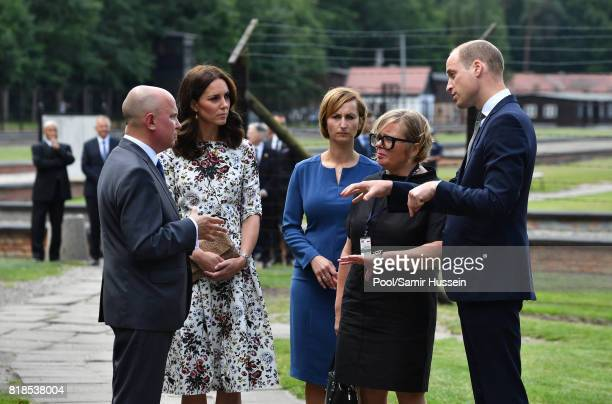 Catherine Duchess of Cambridge and Prince William Duke of Cambridge visit Stutthof the former Nazi Germany Concentration Camp during day 2 of their...