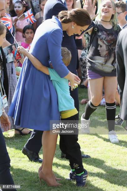 Catherine Duchess of Cambridge and Prince William Duke of Cambridge visit Strassenkinder a charity which supports young people from disadvantaged...