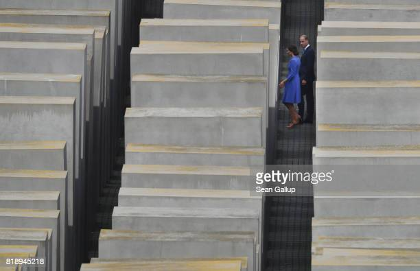 Catherine Duchess of Cambridge and Prince William Duke of Cambridge visit the Monument to the Murdered Jews of Europe also known as the Holocaust...