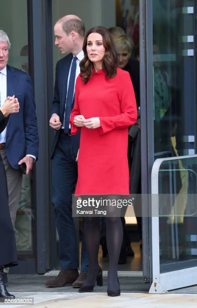 Catherine Duchess Of Cambridge and Prince William Duke of Cambridge attend a 'Stepping Out' session at Media City on December 6 2017 in Manchester...