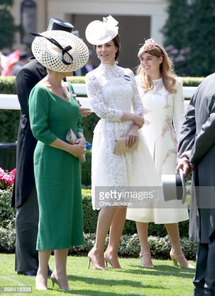 Catherine Duchess of Cambridge and Princess Eugenie of York attend Royal Ascot 2017 at Ascot Racecourse on June 20 2017 in Ascot England