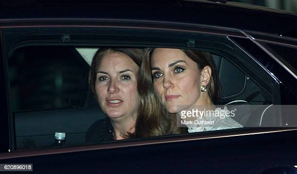 Catherine Duchess of Cambridge and Rebecca Deacon attend UK Premiere of 'A Street Cat Named Bob' in aid of Action On Addiction on November 3 2016 in...