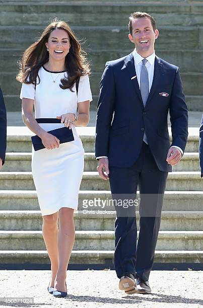 Catherine Duchess of Cambridge and Sir Ben Ainslie at National Maritime Museum in Greenwich for the Ben Ainslie America's Cup Launch on June 10 2014...