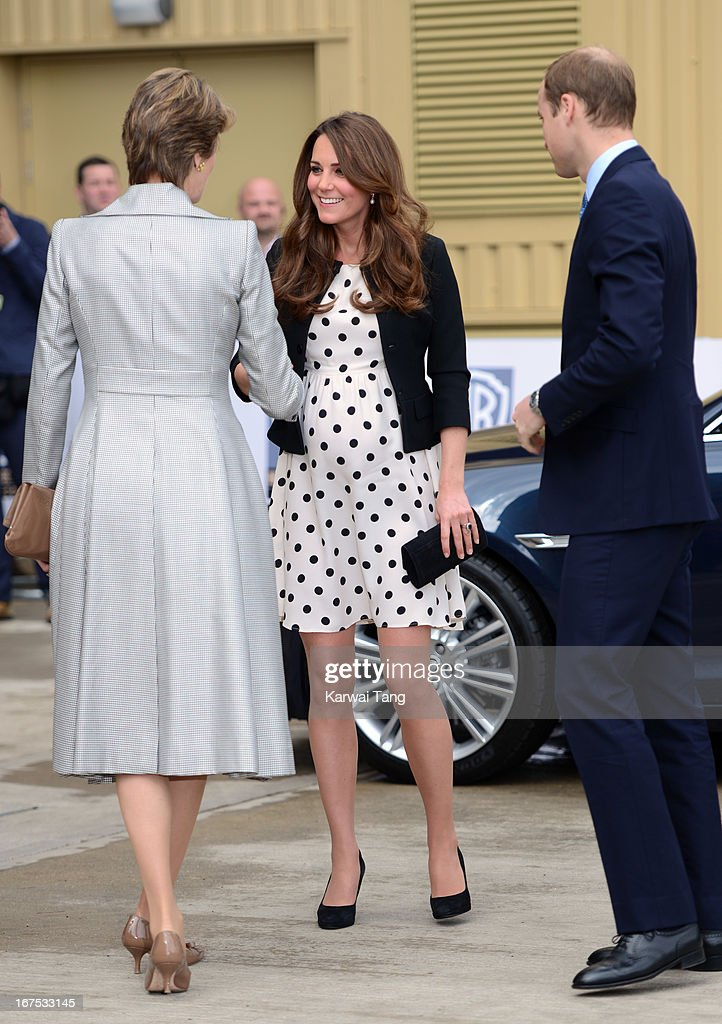 Catherine, Duchess of Cambridge and the Prince William, Duke of Cambridge attend the inauguration of Warner Bros. Studio Tour London on April 26, 2013 in Watford, England.