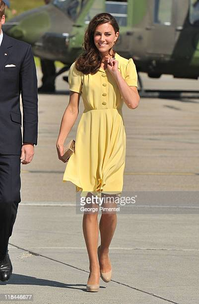 Catherine Duchess of Cambridge arrive at the Calgary International Airport on July 7 2011 in Calgary Canada