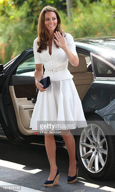 Catherine Duchess of Cambridge arrives at Gardens by the Bay on day 2 of Prince William Duke of Cambridge and Catherine Duchess of Cambridge's...