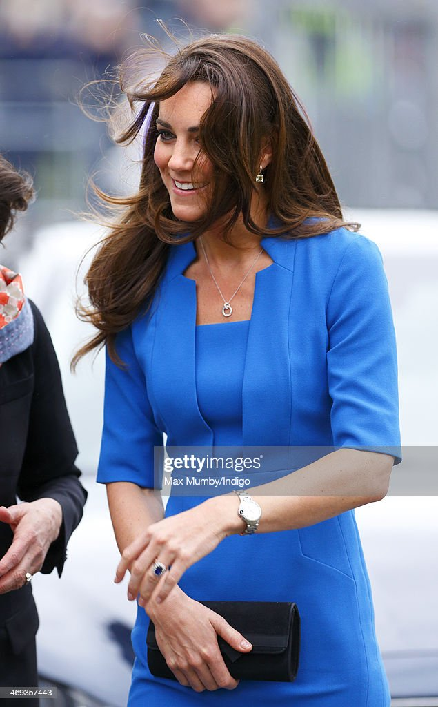 <a gi-track='captionPersonalityLinkClicked' href=/galleries/search?phrase=Catherine+-+Duchess+of+Cambridge&family=editorial&specificpeople=542588 ng-click='$event.stopPropagation()'>Catherine</a>, Duchess of Cambridge arrives at Northolt High School to officially open The ICAP Art Room on February 14, 2014 in Ealing, England.
