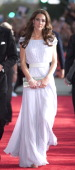 Catherine Duchess of Cambridge arrives at the 2011 BAFTA Brits To Watch Event at the Belasco Theatre on July 9 2011 in Los Angeles California The...