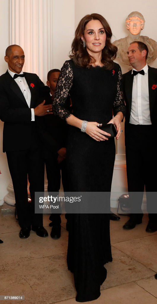 Catherine, Duchess of Cambridge arrives at the 2017 Gala Dinner for The Anna Freud National Centre for Children and Families (AFNCCF) at Kensington Palace on November 7, 2017 in London, England.