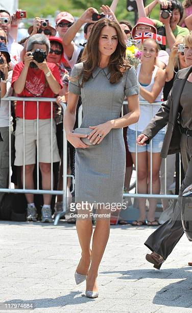 Catherine Duchess of Cambridge arrives at the Canadian War Museum on July 2 2011 in Ottawa Canada