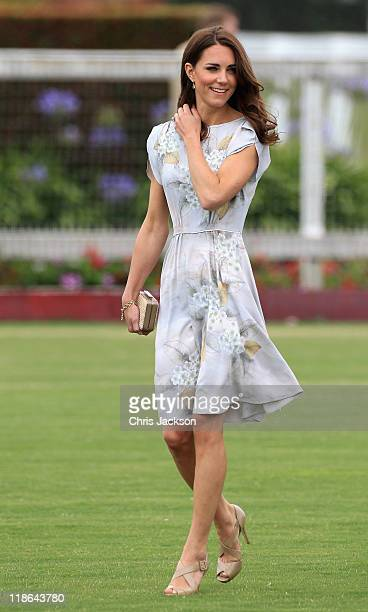 Catherine Duchess of Cambridge arrives at the Foundation Polo Challenge held at the Santa Barbara Polo and Racquet Club on July 9 2011 in Santa...