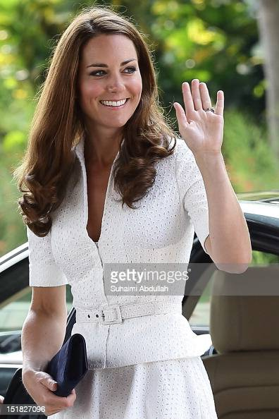Catherine Duchess of Cambridge arrives at the Gardens By The Bay on day 2 during her Diamond Jubilee tour on September 12 2012 in Singapore Prince...