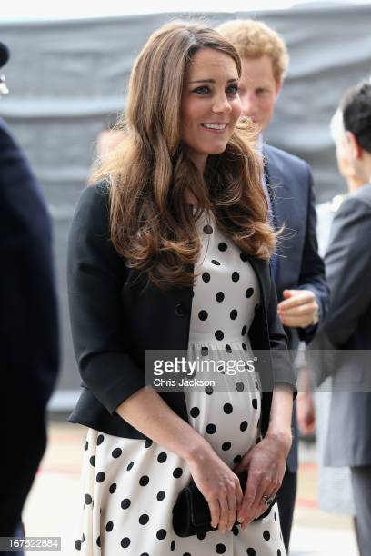 Catherine Duchess of Cambridge arrives at the Inauguration Of Warner Bros Studios Leavesden on April 26 2013 in London England