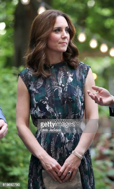 Catherine Duchess of Cambridge arrives at the last original dancehall in Berlin the Clärchens Ballhaus to attend a reception with Prince William Duke...