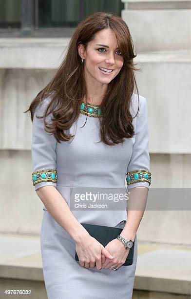 Catherine Duchess of Cambridge arrives at the Place2Be Headteacher Conference at Bank of America Merrill Lynch on November 18 2015 in London England...
