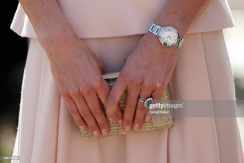Catherine, Duchess of Cambridge arrives at the Playford Civic Centre on April 23, 2014 in Adelaide, Australia. The Duke and Duchess of Cambridge are on a three-week tour of Australia and New Zealand, the first official trip overseas with their son, Prince George of Cambridge.