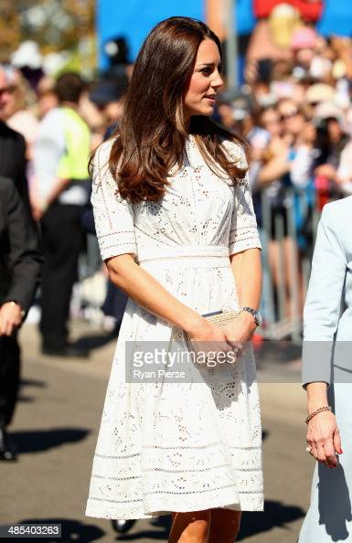 Catherine Duchess of Cambridge arrives at the Sydney Royal Easter Show on April 18 2014 in Sydney Australia The Duke and Duchess of Cambridge are on...