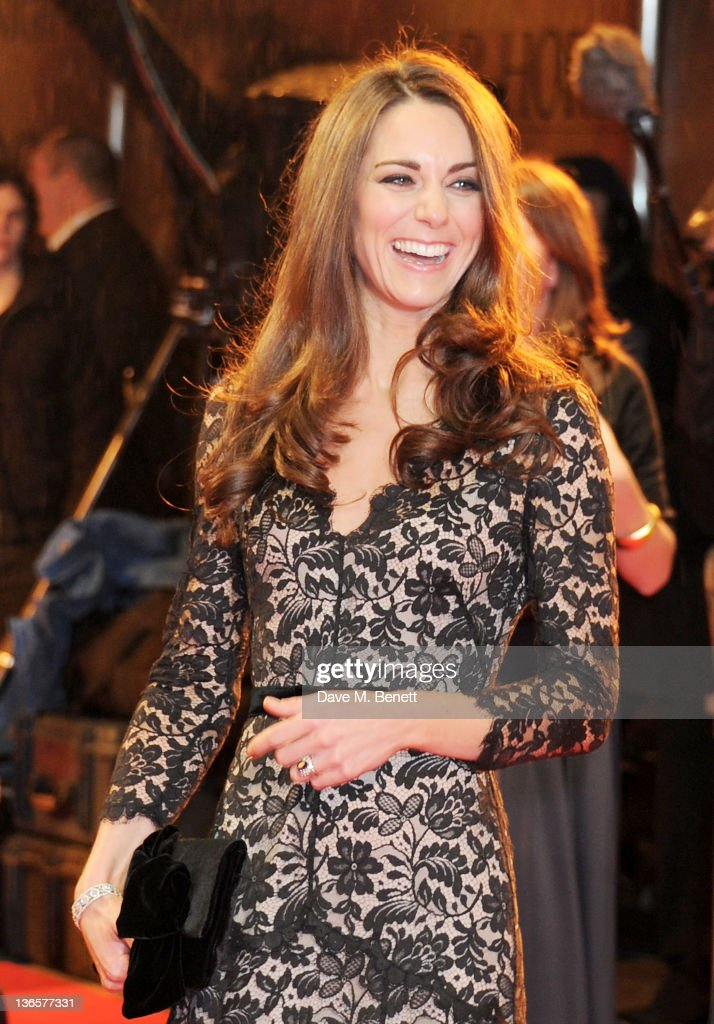 Catherine, Duchess of Cambridge, arrives at the UK Premiere of 'War Horse' at Odeon Leicester Square on January 8, 2012 in London, England.
