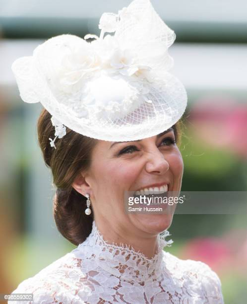 Catherine Duchess of Cambridge arrives by carriage at Royal Ascot 2017 at Ascot Racecourse on June 20 2017 in Ascot England