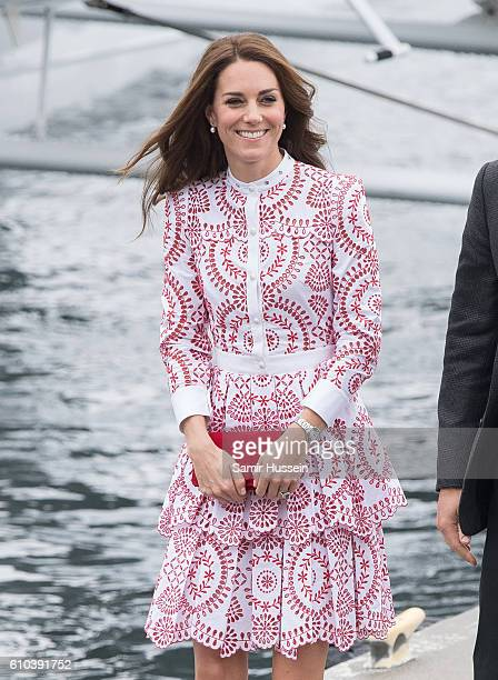 Catherine Duchess of Cambridge arrives by Sea Plane in Vancouver on September 25 2016 in Vancouver Canada