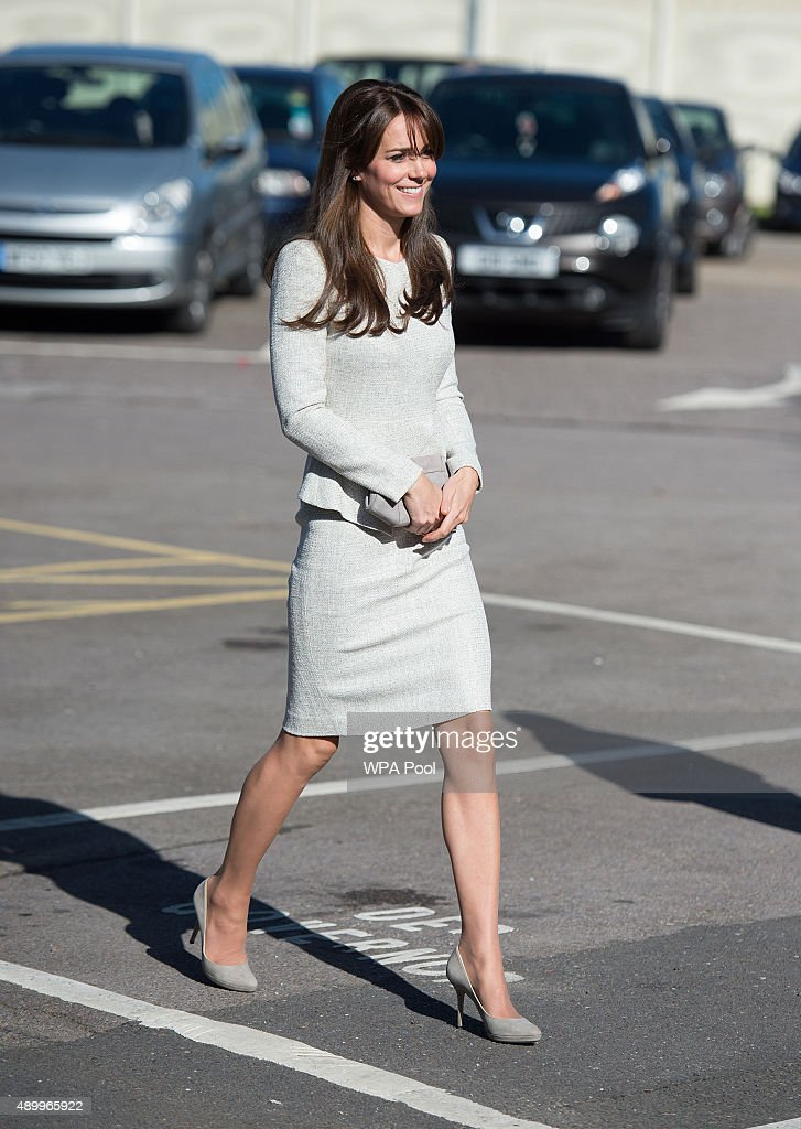 Catherine, Duchess of Cambridge arrives for a visit to the Rehabilitation of Addicted Prisoners Trust at HMP Send on September 25, 2015 in Woking, United Kingdom.