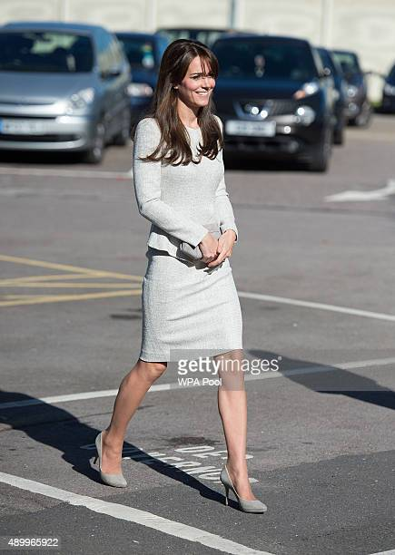 Catherine Duchess of Cambridge arrives for a visit to the Rehabilitation of Addicted Prisoners Trust at HMP Send on September 25 2015 in Woking...