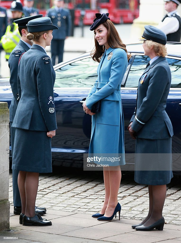 <a gi-track='captionPersonalityLinkClicked' href=/galleries/search?phrase=Catherine+-+Duchess+of+Cambridge&family=editorial&specificpeople=542588 ng-click='$event.stopPropagation()'>Catherine</a>, Duchess of Cambridge arrives for the 75th Anniversary of the RAF Air Cadets at St Clement Danes Church on February 7, 2016 in London, England.