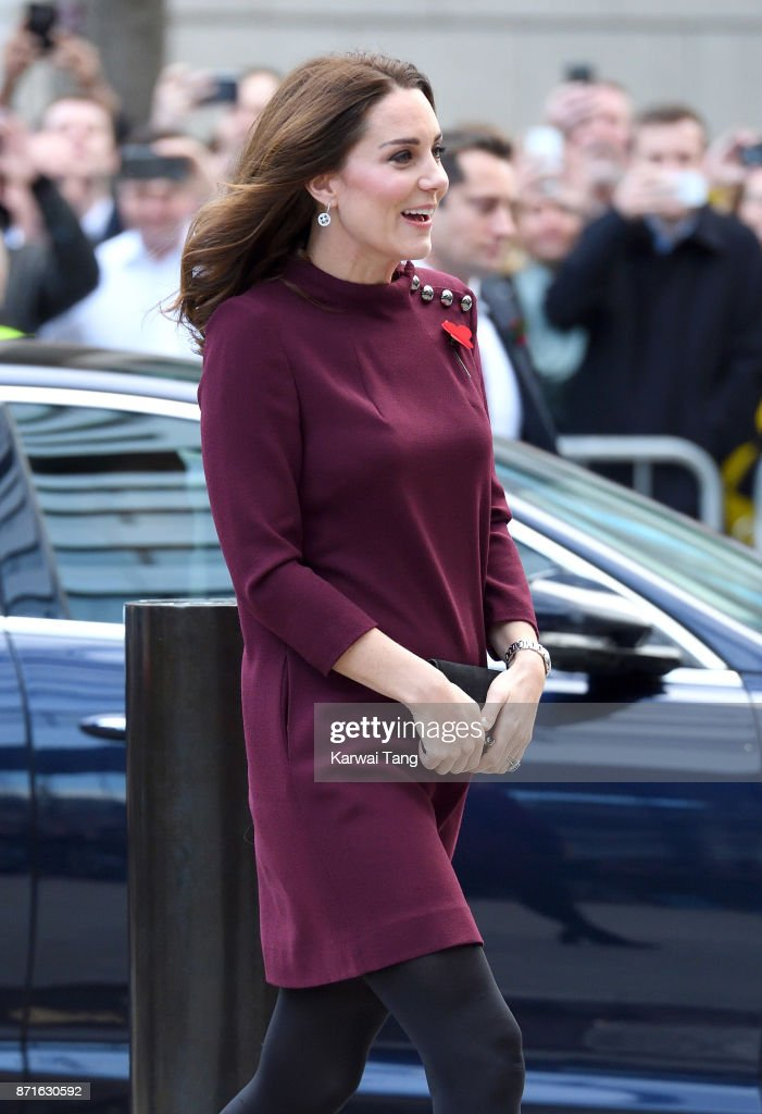 Catherine, Duchess of Cambridge arrives for the Place2Be School Leaders Forum at UBS London on November 8, 2017 in London, England. The Duchess of Cambridge is Patron of Place2Be, a National Children's mental health charity.