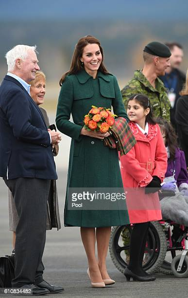 Catherine Duchess of Cambridge arrives in Whitehorse during the Royal Tour of Canada on September 27 2016 in Whitehorse Canada Prince William Duke of...