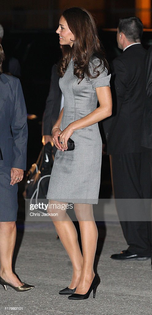 <a gi-track='captionPersonalityLinkClicked' href=/galleries/search?phrase=Catherine+-+Duchess+of+Cambridge&family=editorial&specificpeople=542588 ng-click='$event.stopPropagation()'>Catherine</a>, Duchess of Cambridge arrives on board HMCS Montreal on July 2, 2011 in Montreal, Canada. The newly married Royal Couple are on the third day of their first joint overseas tour. The 12 day visit to North America will take in some of the more remote areas of the country such as Prince Edward Island, Yellowknife and Calgary. The Royal couple yesterday joined millions of Canadians in taking part in Canada Day celebrations which mark Canada's 144th Birthday.