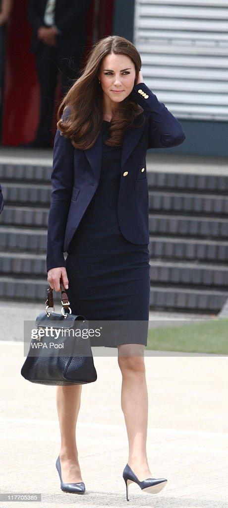 Catherine, Duchess of Cambridge arrives to board a plane of the Royal Canadian Air Force at London's Heathrow Airport on June 30, 2011 in London, England. The Duke and Duchess of Cambridge travel to Ottawa for their first overseas tour as a married couple, the 11 day tour will take them to Canada and then on to California.